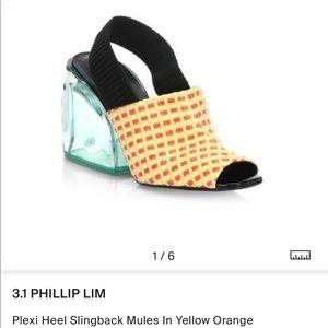 3.1 Phillip Lim Plexi Heel Slingback Mules